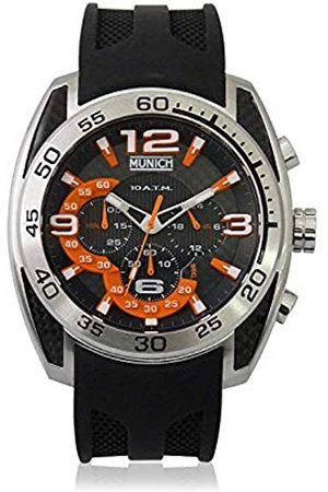 Munich Unisex Adult Analogue Quartz Watch with Rubber Strap MU+133.1C