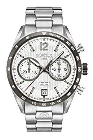 Roamer Mens Chronograph Quartz Watch with Stainless Steel Strap 510902 41 14 50