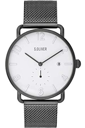 s.Oliver Mens Analogue Quartz Watch with Stainless Steel Strap SO-3719-MQ
