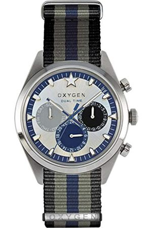 Oxygen Pacific 40 Unisex Quartz Watch with Dial Analogue Display and Nylon Strap