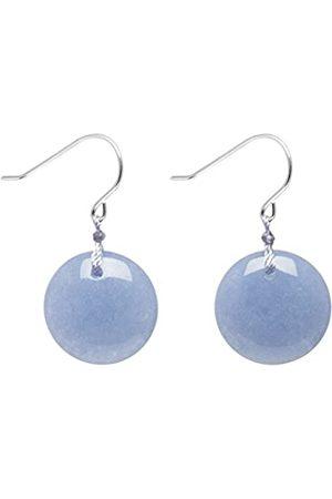 Lola Rose Women's Base Metal Geotopia Disc Bluebird Quartzite Earrings