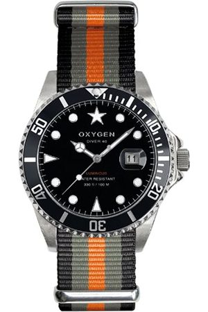 Oxygen Amsterdam 40 Unisex Quartz Watch with Dial Analogue Display and Nylon Strap
