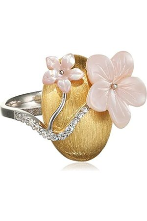 MISIS Asolo Women's Ring 925 Sterling Silver and White Mother-of-Pearl AN03128