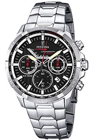 Festina Men's Quartz Watch with Dial Chronograph Display and Stainless Steel Bracelet F6836/4