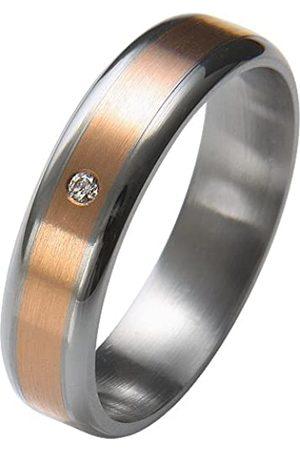 Trauringe Liebe hoch zwei Liebe² 0506001140S252 Ladies' Wedding Ring Stainless Steel 1 Diamond 0.01 ct Size 52 / M 1/2