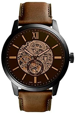 Fossil Mens Skeleton Automatic Watch with Leather Strap ME3155