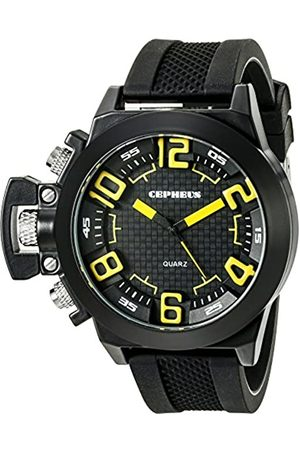 CEPHEUS Men's Quartz Watch with Dial Analogue Display and Silicone Strap CP901-622C
