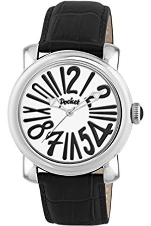 Pocket Men's Quartz Watch with Dial Analogue Display and Leather Strap PK3001
