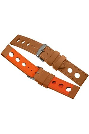 Davis B0321-24mm High Quality Beige Racing Rallye Perforated Watch Strap