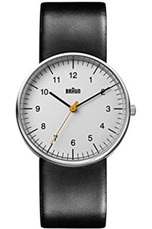 von Braun Mens Analogue Classic Quartz Watch with Leather Strap BN0021BKG