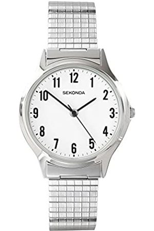 Sekonda Men's Quartz Watch with White Dial Analogue Display and Stainless Steel Bracelet 3751.27