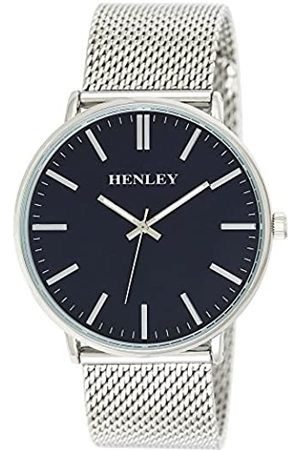 Henley Mens Analogue Classic Quartz Watch with Stainless Steel Strap H02116.6