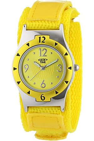 At Time Girl's Watch with Dial and Fabric Strap 454-1806-22