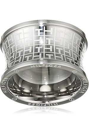 Tommy Hilfiger Women's Stainless-Steel Waist Jacquard Print Ring - Size B