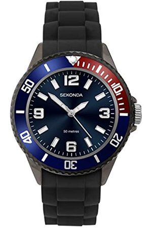 Sekonda Mens Analogue Classic Quartz Watch with Silicone Strap 1752