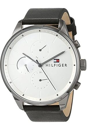 Tommy Hilfiger Unisex-Adult Multi dial Quartz Watch with Leather Strap 1791489