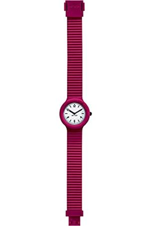 Hip HIP-HOP Ladys' Essential Watch Collection Mono-Colour White dial 2 Hands Quartz Movement and Silicon RED Strap HWU0641