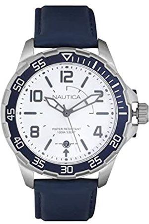 Nautica Men's Analogue Quartz Watch with Leather Strap NAPPLH002