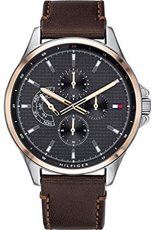 Tommy Hilfiger Mens Multi dial Quartz Watch with Leather Strap 1791615