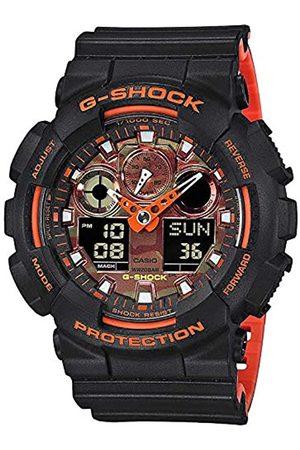 Casio Mens Analogue-Digital Quartz Watch with Resin Strap GA-100BR-1AER