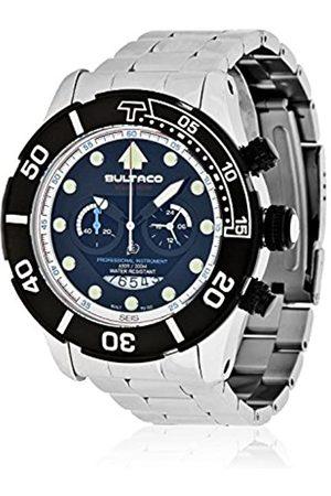 Bultaco Quartz Watch Chronograph Display and Stainless Steel Strap H1AL48C-IB2-A