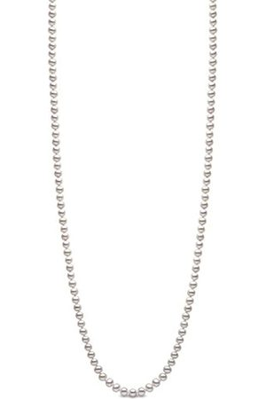 Kimura Kimura 5.5 mm Cultured Grey Freshwater Pearl 34-inch Necklace on 9 ct