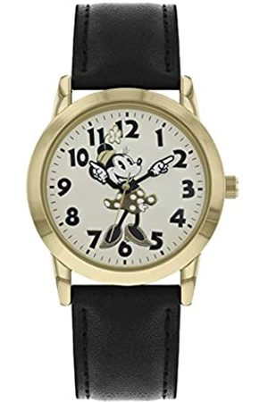 Disney Minnie Mouse Womens Analogue Classic Quartz Watch with Leather Strap MN1551