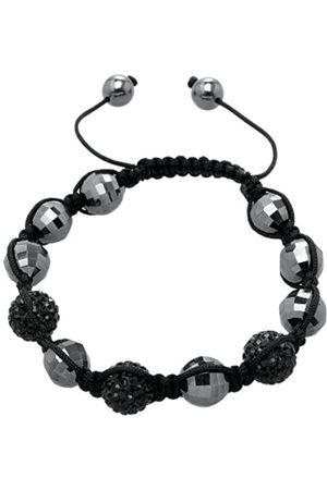 Carlo Monti Women's Bracelet Shamballa L Adjustable Assorted Stones on Fabric Band JCM1145 592