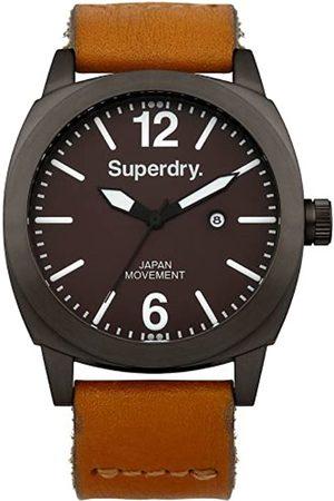 Superdry Men's Watch XL Analogue Quartz Leather SYG103TT