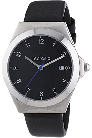 Tectonic Men's Quartz Watch 41-6103-44 with Leather Strap