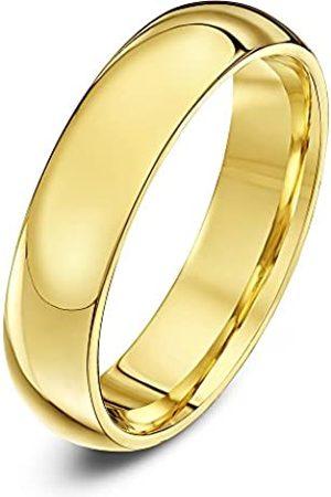 THEIA Unisex Super Heavy Court Shape Polished 9 ct Gold 5 mm Wedding Ring - Size M