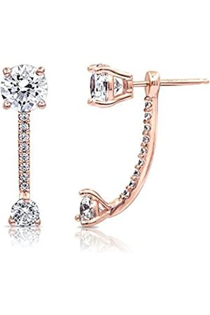 La Lumiere Rose Gold Plated Sterling Silver Made with Cubic Zirconia from Swarovski® Fashion Forward Earring Jackets