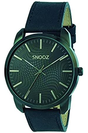 Snooz Men's Analogue Quartz Watch with Leather Strap Saa1044-66