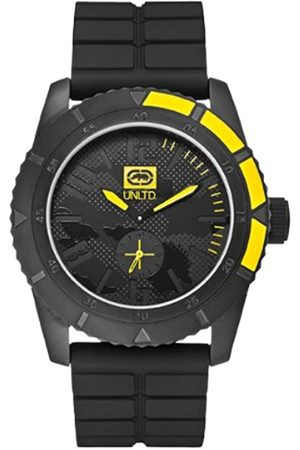 Marc Ecko Unisex Quartz Watch with Dial Analogue Display and Silicone Strap E13541G1