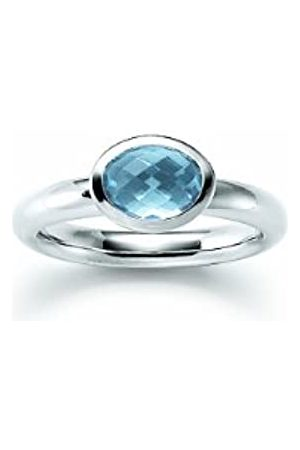Viventy Ladies' Ring 925 Sterling 1 Synthetic Aquamarine Stone EU Size 58 mm (18.5) 765141