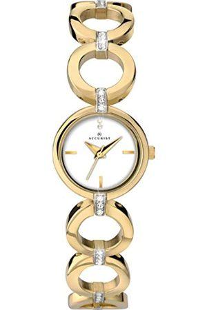 Accurist Womens Analogue Classic Quartz Watch with Brass Strap 8257