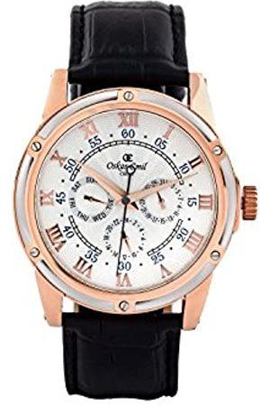Oskar Emil Oskar-Emil Classic Halifax /Rose Gold Men's Quartz Watch with Dial Analogue Display and Leather Strap