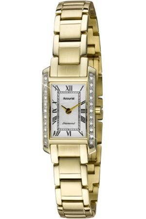 Accurist Women's Quartz Watch with White Dial Analogue Display and Stainless Steel Bracelet Lb1588Rn