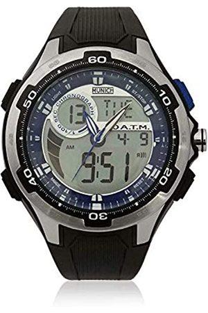 Munich Unisex Adult Digital Quartz Watch with Rubber Strap MU+129.1B