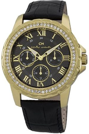Carlo Monti Catania Women's Quartz Watch with Dial Analogue Display and Leather Strap CM600-222