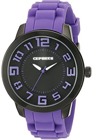 CEPHEUS Women's Quartz Watch with Dial Analogue Display and Silicone Strap CP604-620B