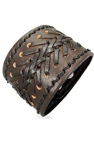 cored Leather Bracelet 19.5 cm / 21.5 cm KK5