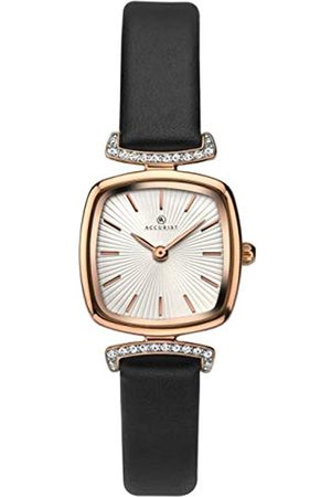 Accurist Womens Stainless Steel Japanese Quartz Watch With Genuine Leather Strap, Mineral Glass, Splash Resistant