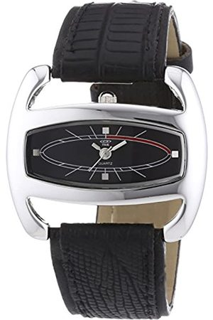 At Time Women's Quartz Watch with Dial and Leather Strap 422-1005-44