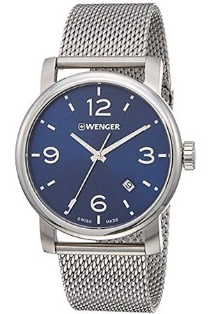 Wenger Men's Analogue Quartz Watch with Stainless Steel Strap 01.1041.125