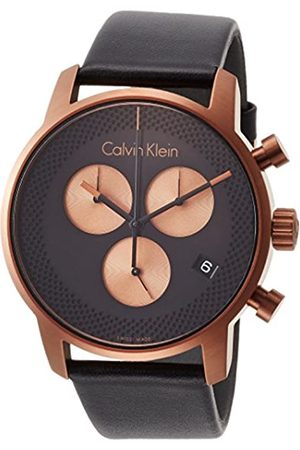 Calvin Klein Men's Chronograph Quartz Watch with Leather Strap K2G17TC1