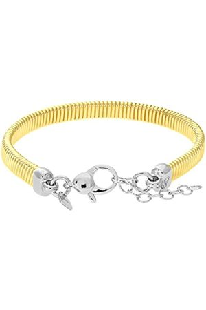 Citerna Yellow Plated Silver Mesh Cable Bracelet of Length 18.4-20.3 cm