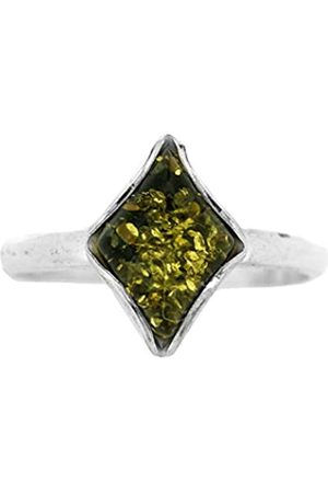 Nova Silver Amber Diamond Shaped Ring Size N (54) in presentation box