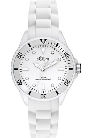s.Oliver Unisex Analogue Quartz Watch with Silicone Strap – SO-2296-PQ
