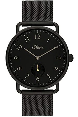 s.Oliver Mens Analogue Quartz Watch with Stainless Steel Strap SO-3939-LQ